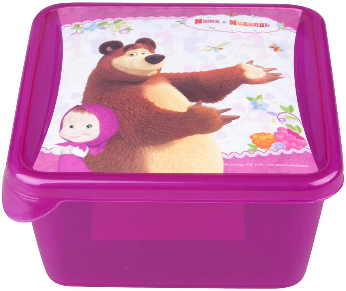 Емкость для хранения Маша и Медведь Mini, цвет: бордовый, 450 млмим-0616005Емкость изготовленна из пищевого пластика, подходит как для хранения пищи, так и для хранения игрушек и любых небольших предметов. Идеальна для школьных завтраков. Ее можно мыть в посудомоечной машине. В ней можно замораживать ягоды и фрукты, так как емкость выдерживает минусовые температуры.