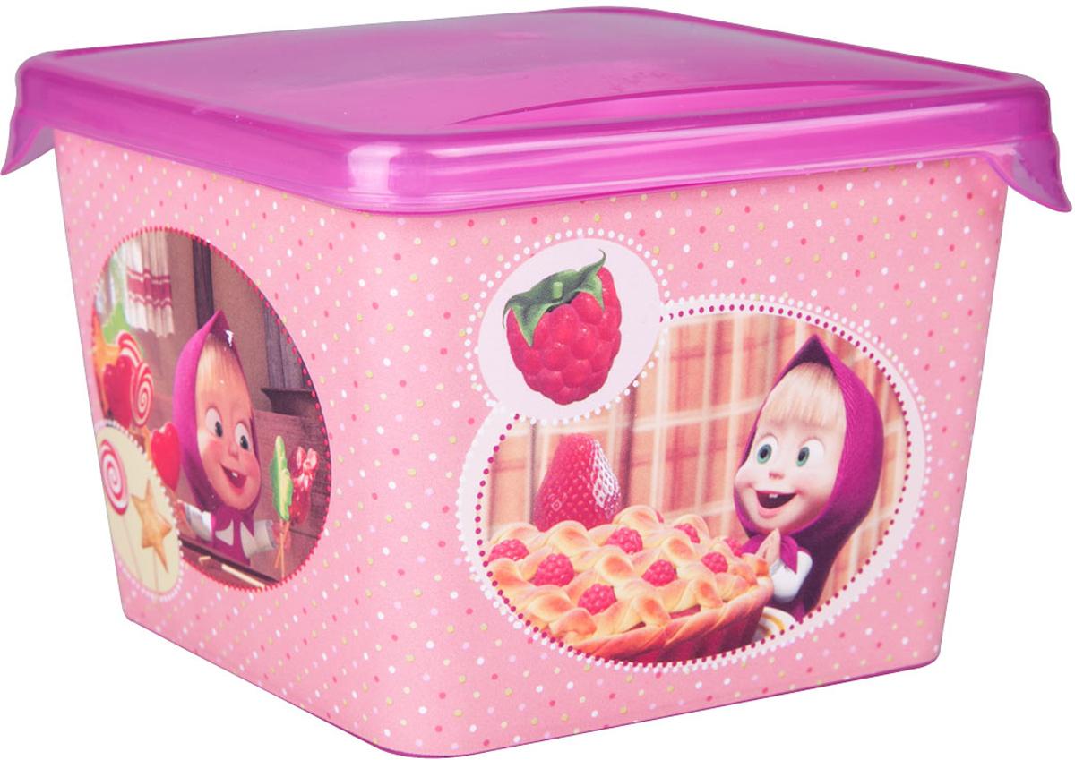 Емкость для хранения Маша и Медведь Mini, с крышкой, цвет: розовый, 750 млмим-0616003Емкость изготовленна из пищевого пластика, подходит как для хранения пищи, так и для хранения игрушек и любых небольших предметов. Идеальна для школьных завтраков. Ее можно мыть в посудомоечной машине. В ней можно замораживать ягоды и фрукты, так как емкость выдерживает минусовые температуры.