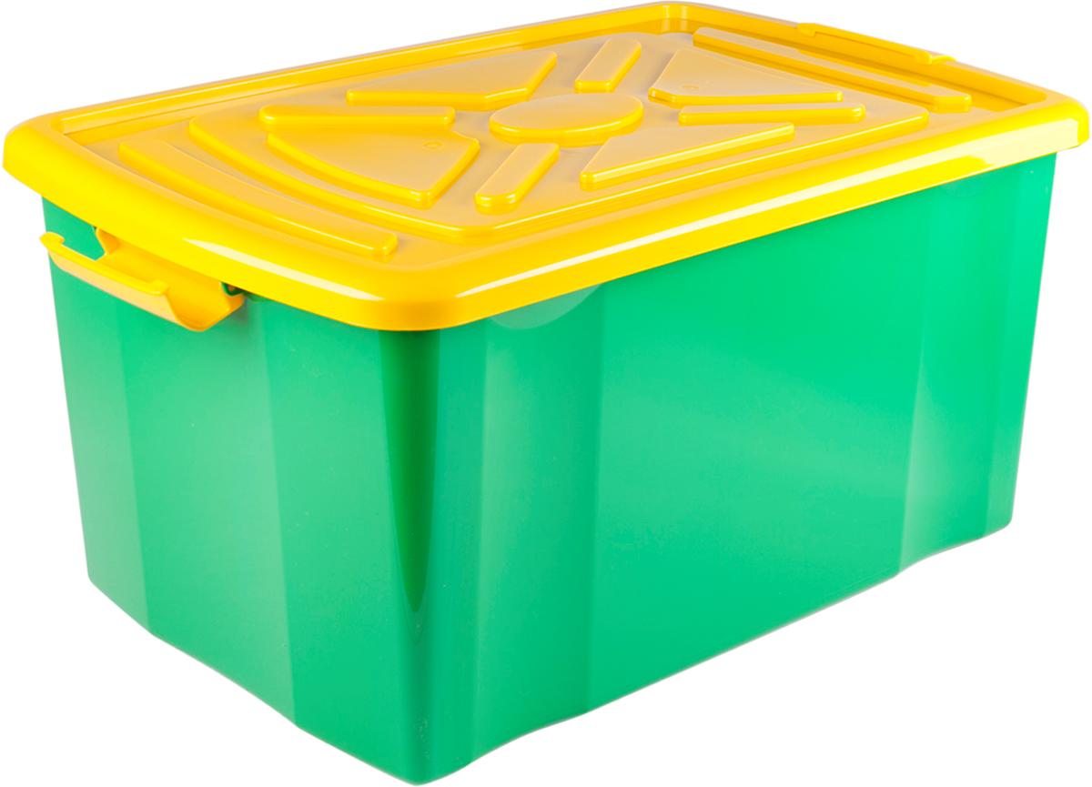 Ящик для хранения с крышкой, длина 57 см, ширина 38 см, высота 30 см, на колесиках.