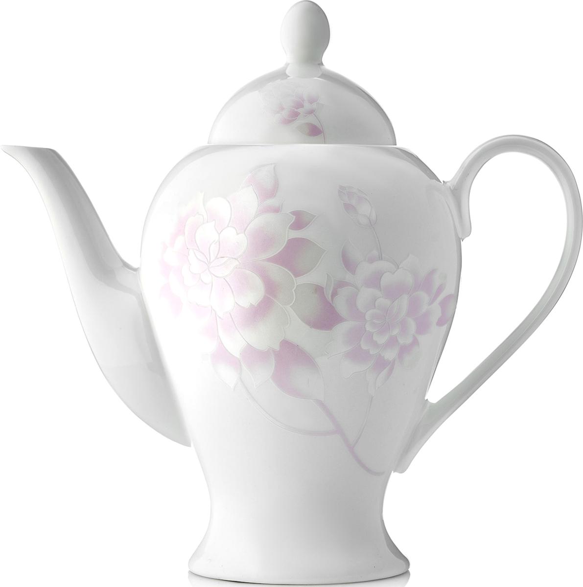 """Чайник заварочный Esprado """"Peonies"""" изготовлен из высококачественного костяного  фарфора с глазурованным покрытием, которое обеспечивает легкую очистку. Изделие прекрасно  подходит для заваривания вкусного и ароматного чая, а также травяных настоев. Оригинальный  дизайн сделает чайник настоящим украшением стола. Он удобен в использовании и понравится  каждому."""