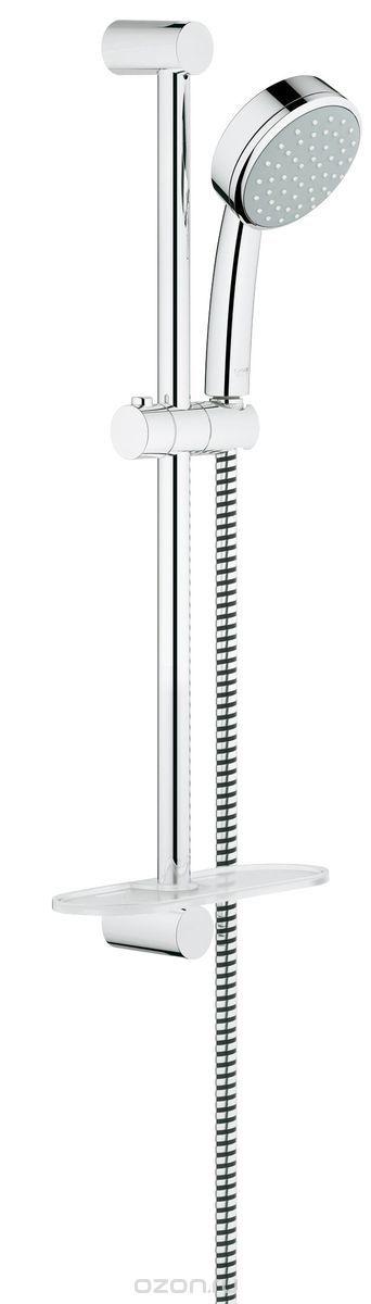Душевой гарнитур Grohe Tempesta Cosmopolitan, с полочкой. 2608300126083001Душевой комплект Grohe Tempesta Cosmopolitan воплощает в себе стильную простоту и комфорт в использовании. Комплект состоит из ручного душа, душевой штанги (600 мм) и шланга (1750 мм), изготовленных из высококачественной латуни. Хромированное покрытие StarLight придает изделию яркий металлический блеск и эстетичный внешний вид. Душевой комплект Grohe Tempesta Cosmopolitan удобен и практичен в работе.Особенности:- превосходный поток воды;- система SpeedClean против известковых отложений;- внутренний охлаждающий канал для продолжительного срока службы;- технология совершенного потока при уменьшенном расходе воды;- может использоваться с проточным водонагревателем. Видео по установке является исключительно информационным. Установка должна проводиться профессионалами!