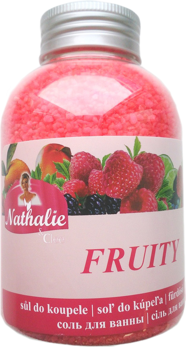 Nathalie Соль для ванны Fruity, 600 г8594000720881Соль для ванны с освежающим действием и ароматом фруктов.