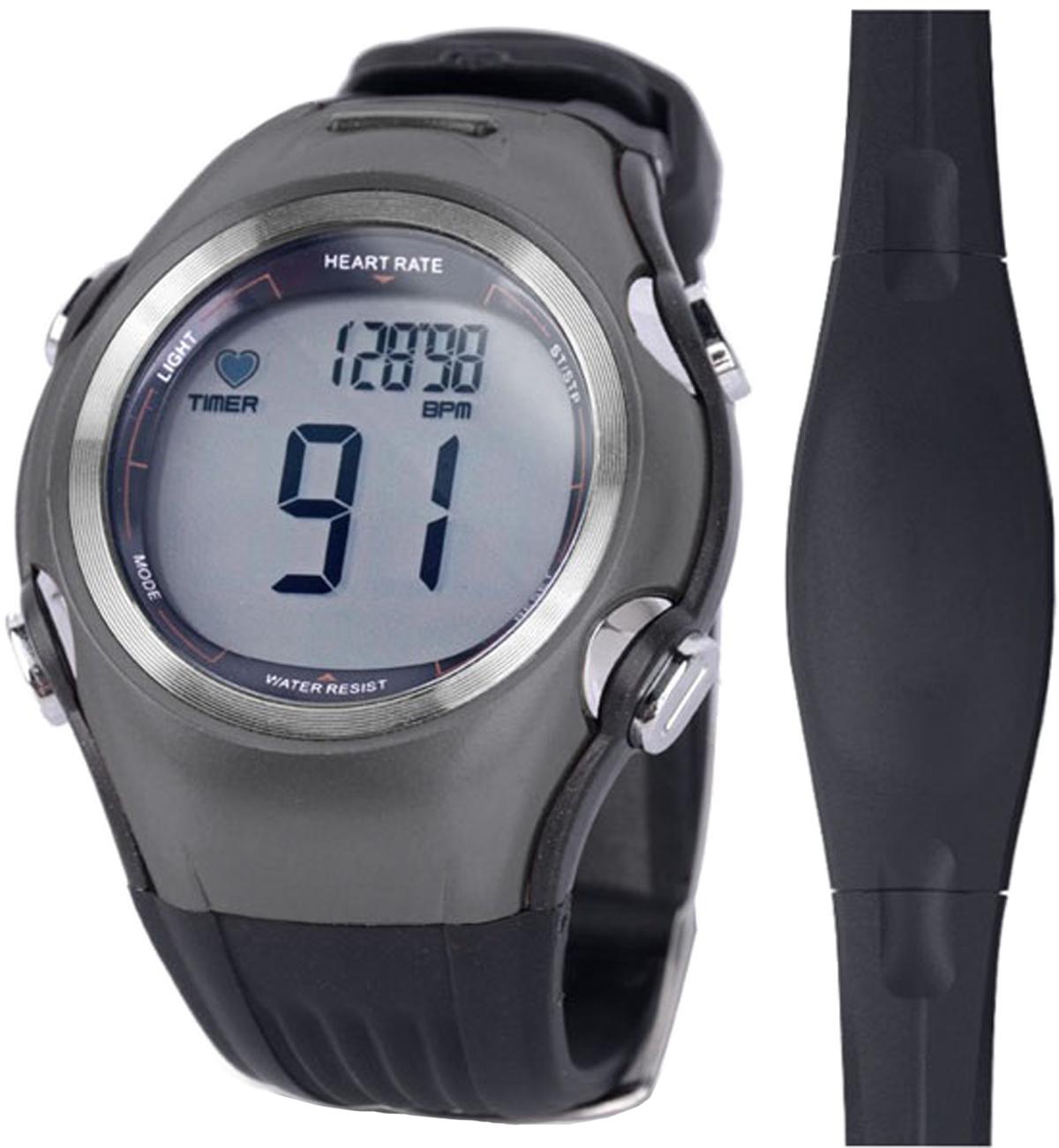 Часы спортивные iSport W117, с пульсометром, цвет: серыйISW117_greyСпортивные часы iSport W117 - для первых шагов в тренировках. Эти современные фитнес-часы с пульсометром помогут поддержать хорошую физическую форму и здоровую работу сердца.1. Аналоговый передатчик (5.3K).2. Выбор из 3 зон частоты пульса.3. Мониторинг ЧСС: -верхняя и нижняя зоны частоты сердечных сокращений,-уведомление при выходе из заданной зоны,-средняя и максимальная частота сердечных сокращений, % от макс. частоты сердцебиения.4. Настраиваемые данные (возраст, пол, вес, зона пульса, текущей уровень, верхний и нижний предел, уведомление при выходе из заданной зоны). 5. Данные тренировки, таймер.6. 1/100 Второй хронограф7. Водостойкий, подсветка (3 сек). 8. Нагрудный пояс-передатчик в комплекте. 9. Отображение времени и даты.10. Счетчик калорий.Материал: ABS, PU ремешок.Размер трекера: 5 x 4,4 см. Размер нагрудного пояса: 36 x 3см.Батарея: CR2032.