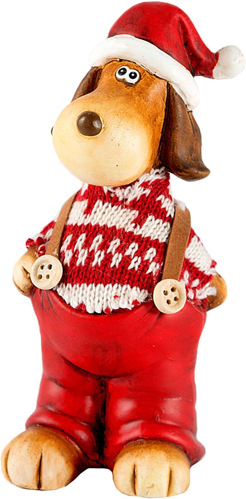 Фигурка декоративная Собачка, 7 х 6 х 16 см23414Символ года - Собака, означает дружбу, верность, преданность. Послужит прекрасным подарком для друзей и близких не только к Новому году , но и будет прекрасным украшением для интрьера.