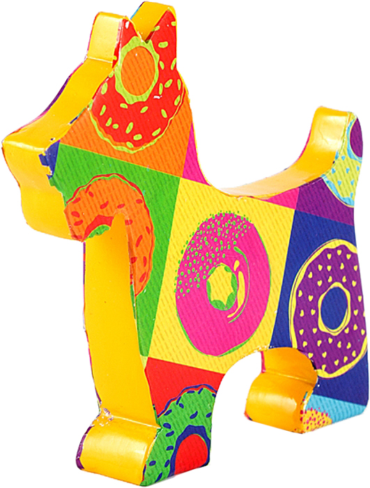 Фигурка декоративная Win Max Собачка, 12 х 3 х 12 см. 23420 корзинка win max цыпочки под пасхальные яйца 20 х 13 х 19 см