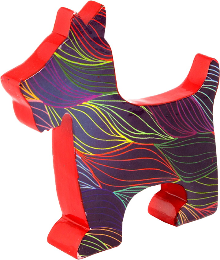 Фигурка декоративная Win Max Собачка, 12 х 3 х 12 см. 23423 фигурка декоративная win max собака ручная работа 20 х 4 х 10 см