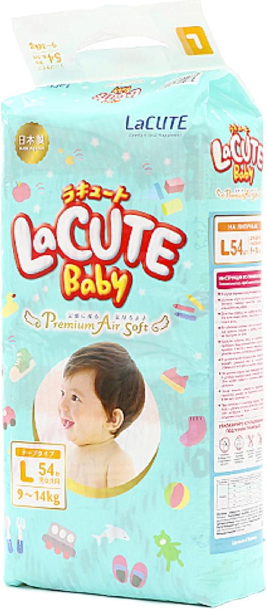 LaCUTE Baby Подгузники Premium Air Soft L 9-14 кг 54 шт goon подгузники l 9 14 кг 15 шт