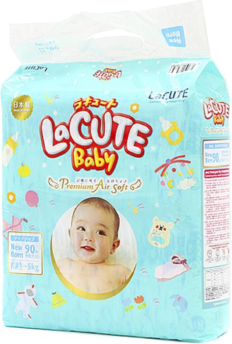 LaCUTE Baby Подгузники Premium Air Soft NB 0-5 кг 90 шт подгузники детские sun herbal фито подгузники sun herbal nb 2 5 кг 24 шт уп