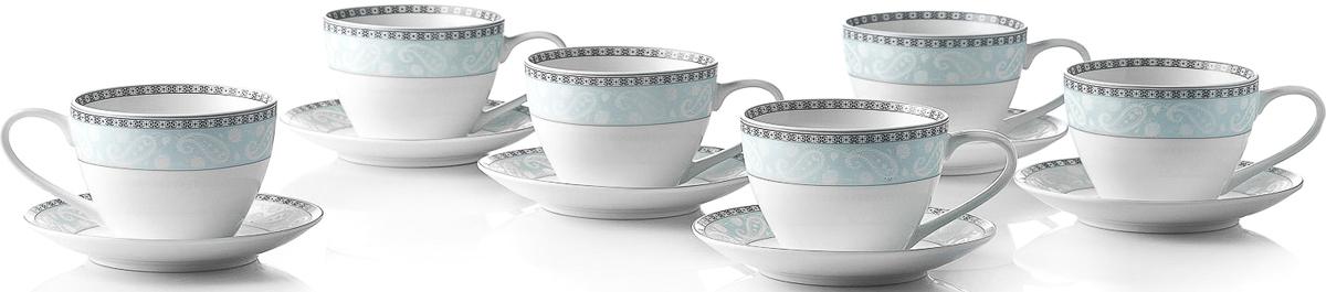 Набор чайный Esprado Arista Blue, 12 предметовARB031BE304Чайный набор Esprado Arista Blue состоит из шести чашек и шести блюдец,изготовленных извысококачественного твердого фарфора.Над созданием дизайна коллекций посуды из фарфора Esprado работаетмеждународная командавысококлассных дизайнеров, не только воплощающих вжизнь все новейшие тренды, но также ипридерживающихся многовековых традиций присоздании классических коллекций.Посуда из костяного фарфора будет идеальным выбором,для тех, кто предпочитает красивую современную посудуиз высококачественного материала, которая отличаетсявысокой прочностью и подходит для ежедневногоиспользования.Столовая посуда Arista Blue выполнена в благородном голубом оттенке ипозволит создать за столом изысканную атмосферу без лишней вычурности.Можно использовать в микроволновки печи и мыть впосудомоечной машине.