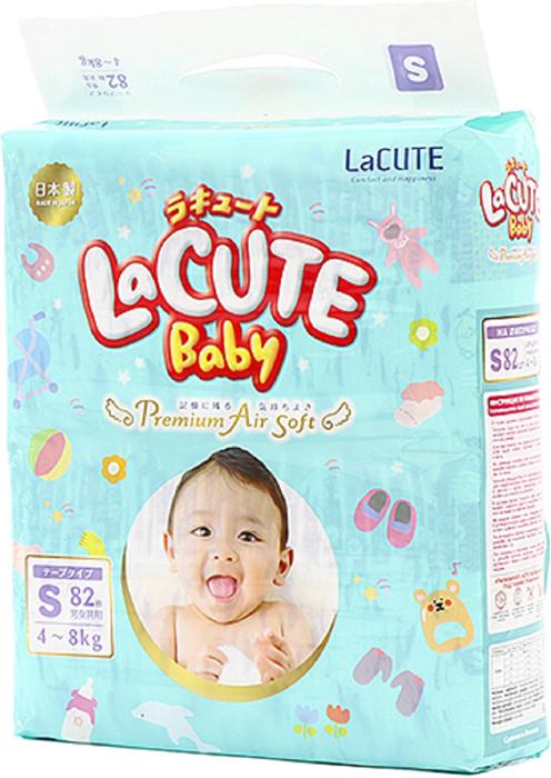LaCUTE Baby Подгузники Premium Air Soft S 4-8 кг 82 шт подгузники mepsi premium s 4 9кг 27шт