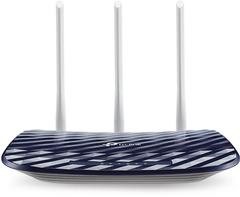 TP-Link Archer C20(RU) беспроводной маршрутизаторArcher C20(RU)TP-Link Archer C20 поддерживает следующее поколение Wi-Fi, скорость которого в 3 раза выше скорости стандарта802.11n. Благодаря улучшенной производительности и надёжной защите 802.11ac является идеальным решениемдля ускорения домашней сети и решения проблемы загруженности.Archer C20 работает в диапазонах 2,4 ГГц и 5 ГГц, обеспечивая превосходное качество беспроводного соединения,а также возможность выбора между двумя частотами под ваши нужды. Простые задачи, такие как e-mail илипросмотр веб-страниц, могут выполняться на 2,4 ГГц со скоростью до 300 Мбит/с, в то время, как ресурсоёмкиезадачи, такие как онлайн игры и просмотр HD-видео, могут выполняться на 5 ГГц со скоростью до 433 Мбит/с.Благодаря 3 внешним антеннам вы сможете воспользоваться превосходным качеством Wi-Fi, стабильным сигналомв любом направлении, а также высокой скоростью на более дальних расстояниях. Всё это обеспечит вамувеличенную зону покрытия беспроводной сети и надёжное соединение в любых частях вашего дома или офиса.Настройте Archer C20 за несколько минут с помощью понятного веб-интерфейса и мобильного приложения Tether.Tether также позволит вам управлять сетевыми настройками с любого устройства на iOS и Android, включаяродительский контроль и контроль доступа.
