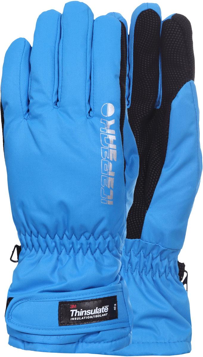 Перчатки мужские Icepeak, цвет: синий, черный. 858850564IV-365. Размер M (9/9,5)858850564IV-365Перчатки Icepeak, выполненные из полиэстера, станут идеальным вариантом для холодной зимней погоды. Утеплитель полиэстер хорошо сохраняет тепло. Для большего удобства на запястьях перчатки дополнены эластичными резинками и хлястиками на липучках. Также имеется застежка для скрепления перчаток.