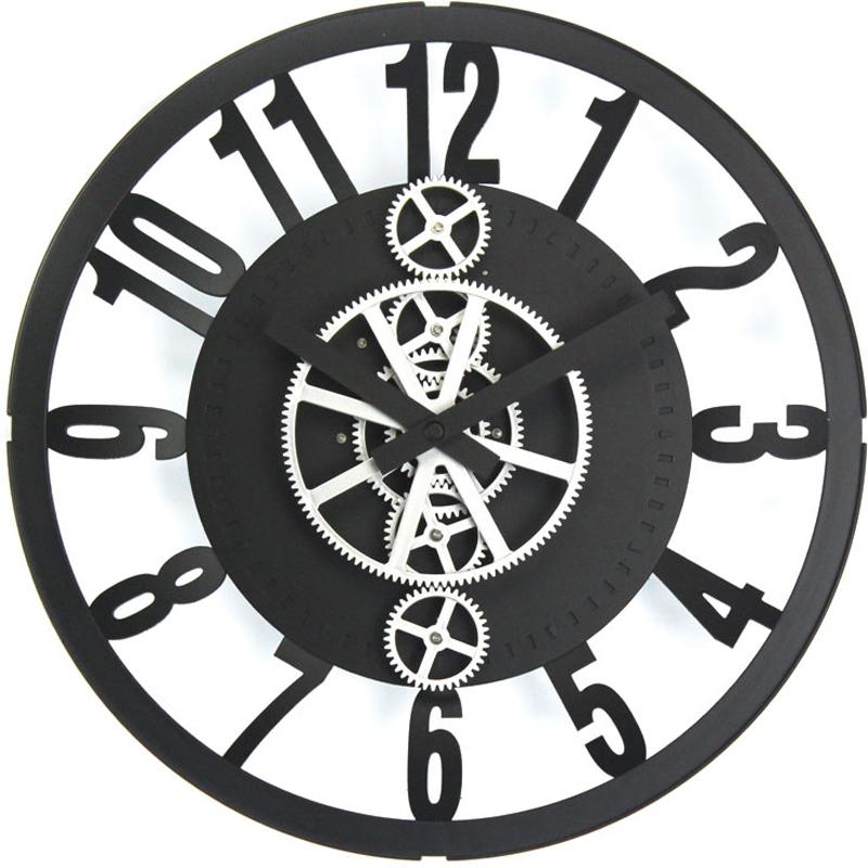 Часы настенные Baron Двигатель времени, цвет: черный, 32 х 7,5 см500-CLОткрытый корпус настенных часов-скелетонов позволяет заглянуть внутрь устройства и узнать, как работают многочисленные шестерни, колесики и стрелки. В этой модели часов сверху расположено защитное стекло, но при этом весь внутренний механизм остается на виду.Характеристики: Диаметр 32 см.Толщина 7,5 см Металлические стрелкиПитание от элементов питания стандарта R14 (в комплект не входят) Материал: металл, пластик