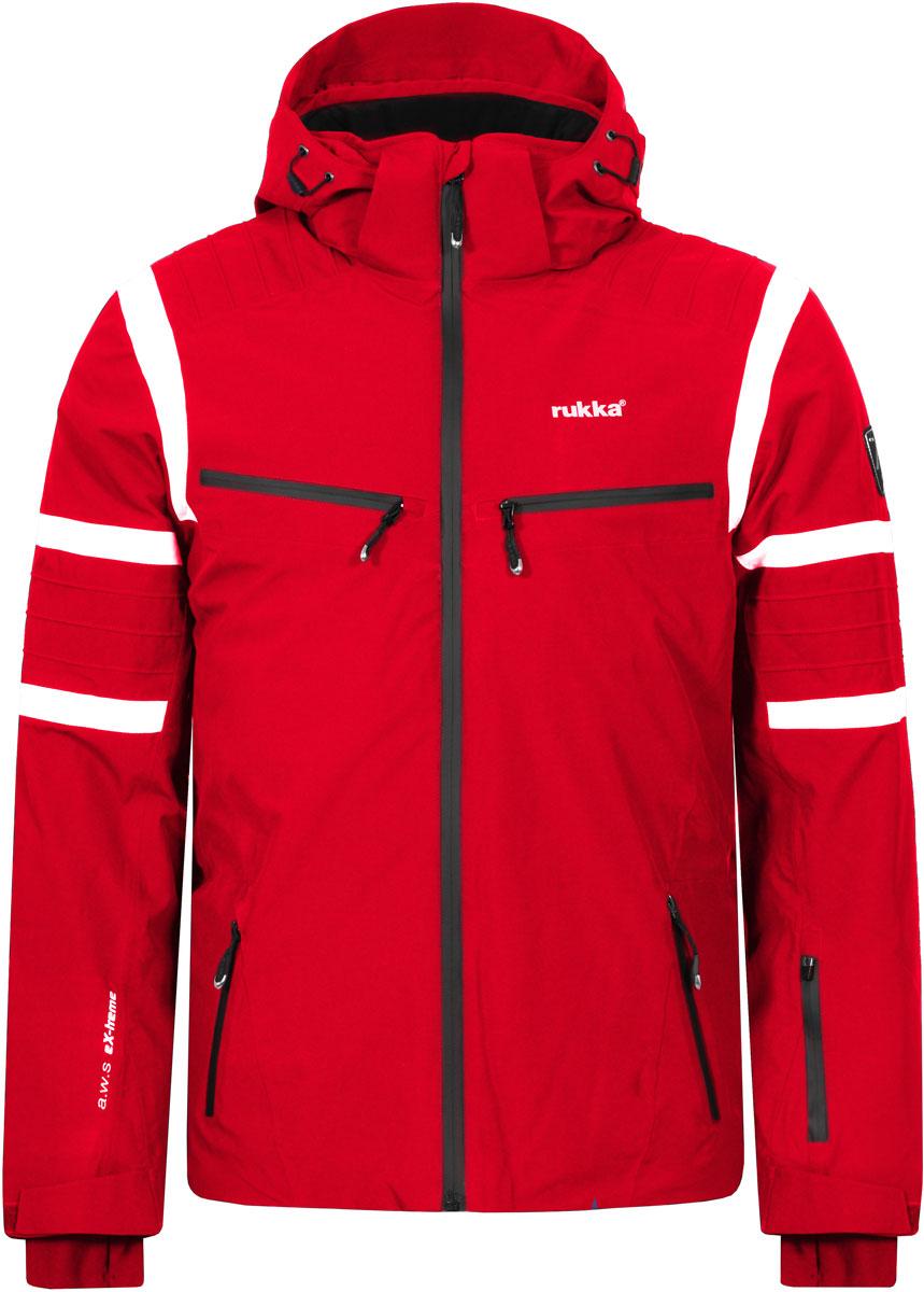 Куртка мужская Rukka, цвет: красный. 878600241RV_652. Размер XXL (56)878600241RV_652Великолепная утепленная куртка Rukka выполнена из полиэстера. Модель с длинными рукавами, воротником-стойкой и несъемным капюшоном застегивается на застежку-молнию спереди. Верхний материал непромокаемый. По бокам и на груди - прорезные карманы с молнией. Прекрасно подойдет как для города, так и для отдыха на природе.