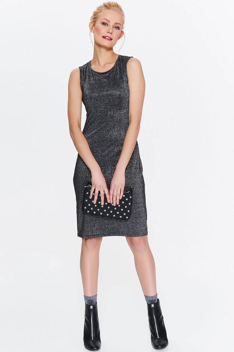 Платье Top Secret, цвет: черный. SSU2014CA. Размер 34 (42)SSU2014CAПлатье Top Secret выполнено из качественного материала. Модель с круглым вырезом горловины.