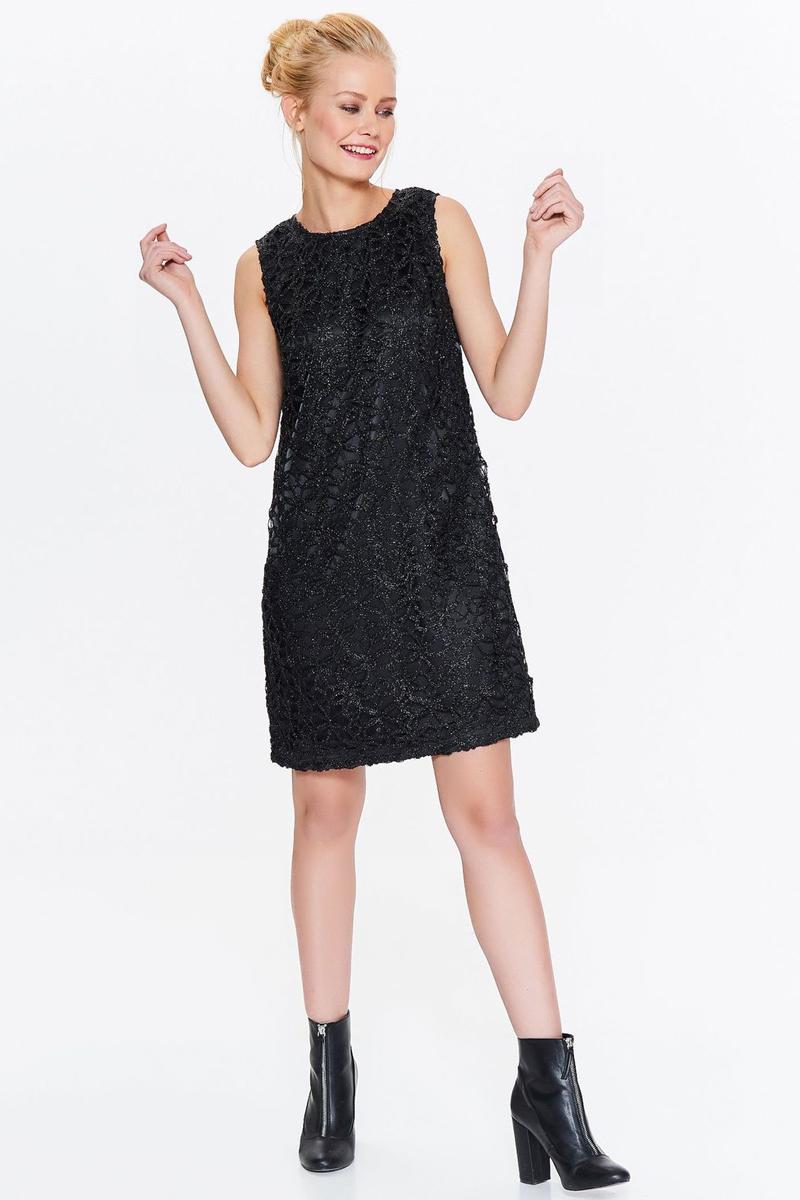 Платье Top Secret, цвет: черный. SSU2008CA. Размер 40 (48)SSU2008CAПлатье Top Secret выполнено из качественного материала. Модель с круглым вырезом горловины сзади застегивается на застежку-молнию.