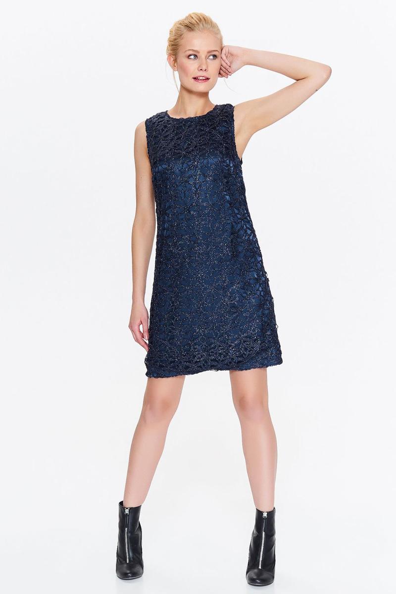Платье Top Secret, цвет: темно-синий. SSU2007GR. Размер 42 (50)SSU2007GRПлатье Top Secret выполнено из качественного материала. Модель с круглым вырезом горловины сзади застегивается на застежку-молнию.