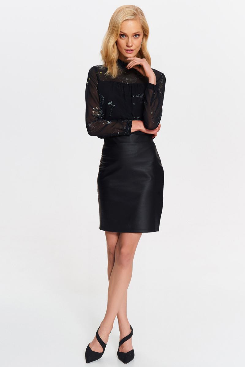 Юбка Top Secret, цвет: черный. SSD1152CA. Размер 42 (50)SSD1152CAСтильная юбка от Top Secret выполнена из высококачественного материала. Модель облегающего кроя застегивается на потайную молнию.