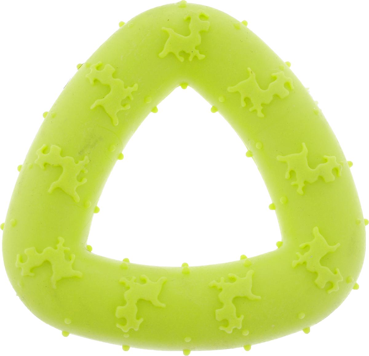 Игрушка для собак Грызлик Ам Треугольник, цвет: желтый, 7,5 см комплект приставок к мясорубкам аксион ам 11 02