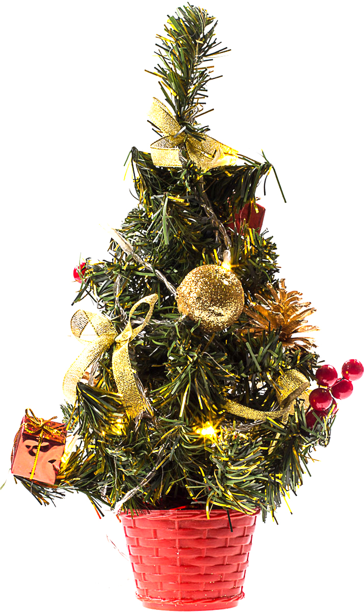 Елка настольная c игрушками и гирляндой Vita Pelle, 30 см. K11EL1811K11EL1811Милая наряженная елочка в корзинке украшена игрушками, мишурой и гирляндой. Она будет уместна и дома, и в офисе. Весело подмигивая всеми своими огоньками, она преобразит пространство, подарив праздник и новогоднее настроение.