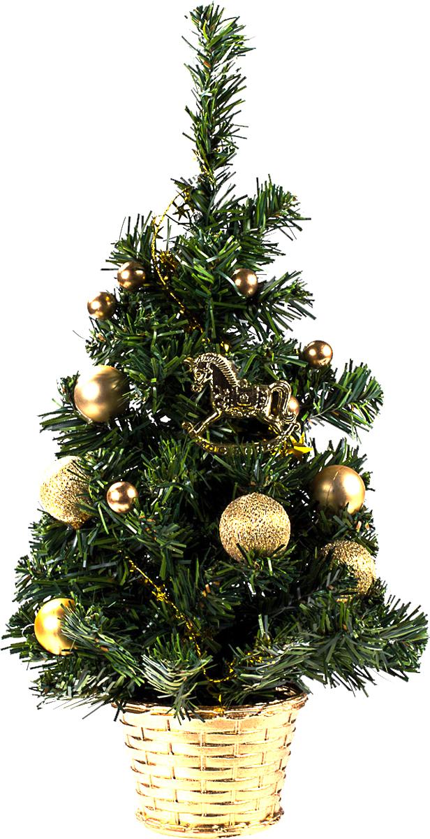 Елка настольная c игрушками Vita Pelle, 40 см. K11EL1902K11EL1902Милая наряженная елочка в корзинке украшена игрушками и мишурой. Она будет уместна и дома, и в офисе. Она преобразит пространство, подарив праздник и новогоднее настроение. Небольшой размер елочки позволит разместить ее где угодно.