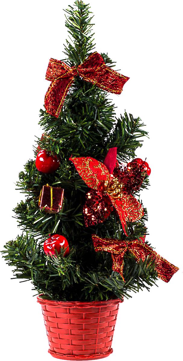 Елка настольная c игрушками Vita Pelle, 40 см. K11EL1903K11EL1903Милая наряженная елочка в корзинке украшена игрушками и мишурой. Она будет уместна и дома, и в офисе. Она преобразит пространство, подарив праздник и новогоднее настроение. Небольшой размер елочки позволит разместить ее где угодно.