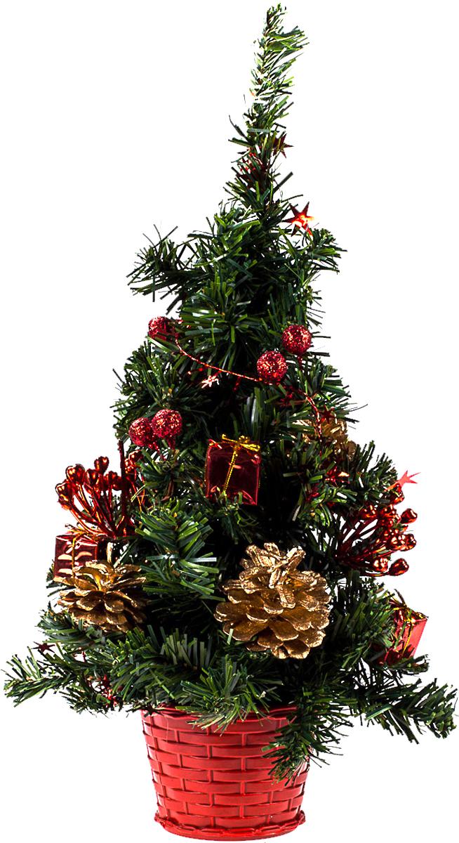 Елка настольная c игрушками Vita Pelle, 40 см. K11EL1904K11EL1904Милая наряженная елочка в корзинке украшена игрушками и мишурой. Она будет уместна и дома, и в офисе. Она преобразит пространство, подарив праздник и новогоднее настроение. Небольшой размер елочки позволит разместить ее где угодно.