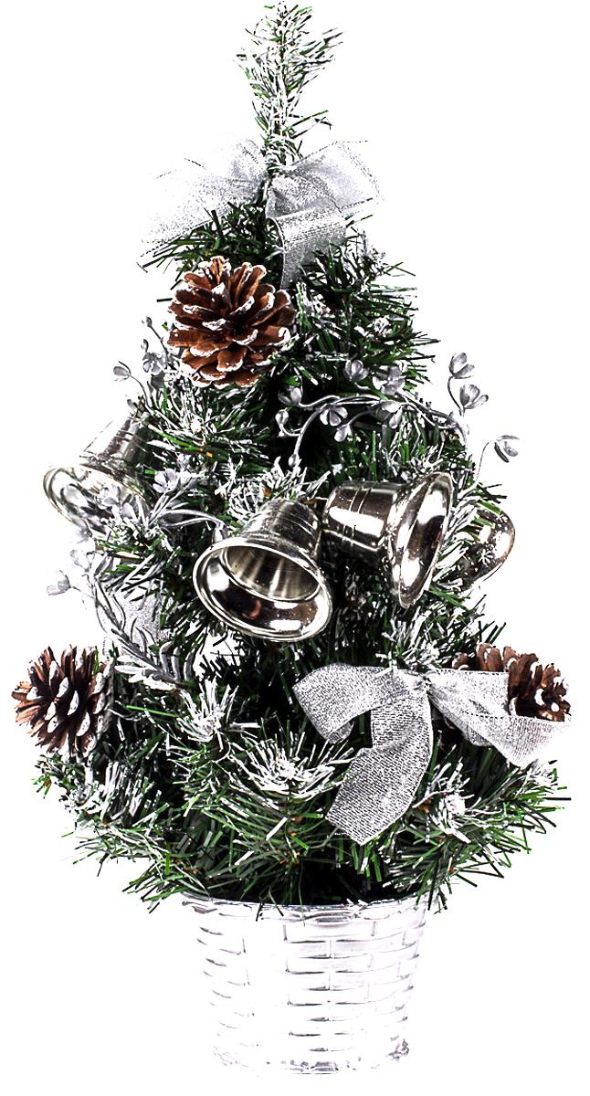 Елка настольная c игрушками Vita Pelle, 40 см. K11EL1905K11EL1905Милая наряженная елочка в корзинке украшена игрушками и мишурой. Она будет уместна и дома, и в офисе. Она преобразит пространство, подарив праздник и новогоднее настроение. Небольшой размер елочки позволит разместить ее где угодно.