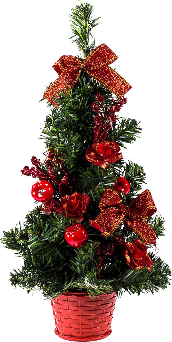 Елка настольная c игрушками Vita Pelle, 40 см. K11EL1907K11EL1907Милая наряженная елочка в корзинке украшена игрушками и мишурой. Она будет уместна и дома, и в офисе. Она преобразит пространство, подарив праздник и новогоднее настроение. Небольшой размер елочки позволит разместить ее где угодно.