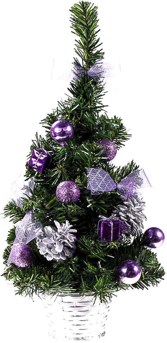 Елка настольная c игрушками Vita Pelle, 40 см. K11EL1909K11EL1909Милая наряженная елочка в корзинке украшена игрушками и мишурой. Она будет уместна и дома, и в офисе. Она преобразит пространство, подарив праздник и новогоднее настроение. Небольшой размер елочки позволит разместить ее где угодно.