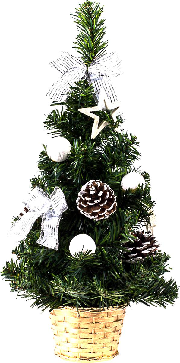 Елка настольная c игрушками Vita Pelle, 40 см. K11EL1912K11EL1912Милая наряженная елочка в корзинке украшена игрушками и мишурой. Она будет уместна и дома, и в офисе. Она преобразит пространство, подарив праздник и новогоднее настроение. Небольшой размер елочки позволит разместить ее где угодно.