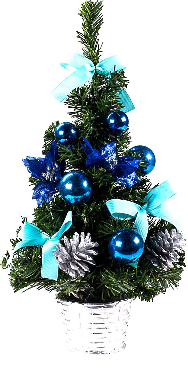 Елка настольная c игрушками Vita Pelle, 40 см. K11EL1913K11EL1913Милая наряженная елочка в корзинке украшена игрушками и мишурой. Она будет уместна и дома, и в офисе. Она преобразит пространство, подарив праздник и новогоднее настроение. Небольшой размер елочки позволит разместить ее где угодно.