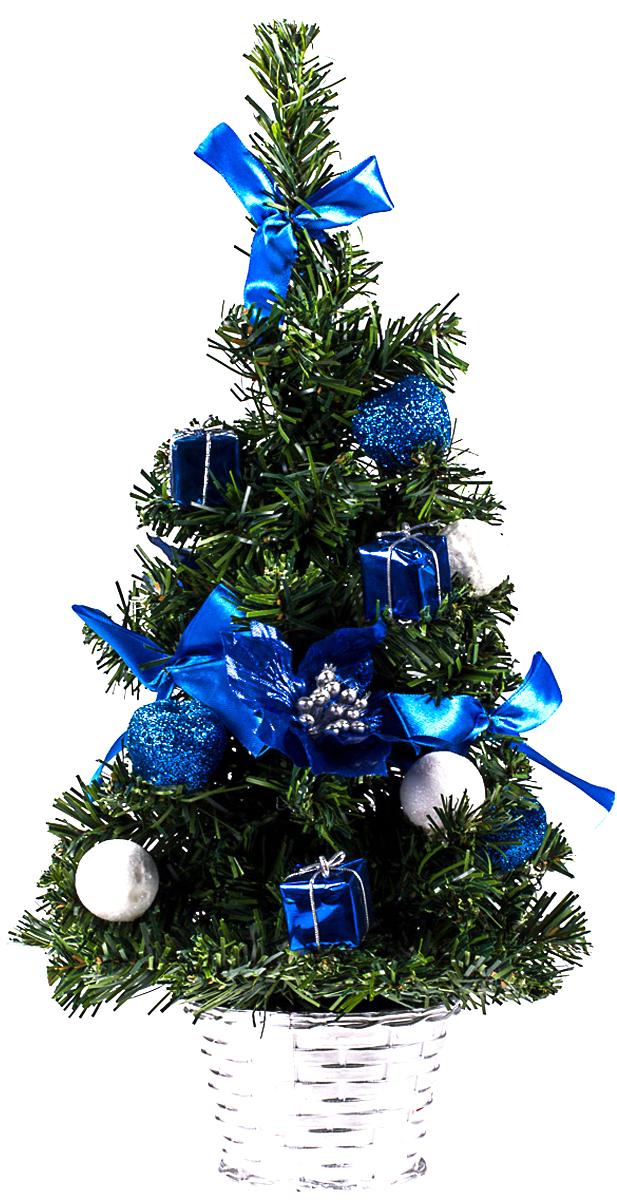 Елка настольная c игрушками Vita Pelle, 40 см. K11EL1914K11EL1914Милая наряженная елочка в корзинке украшена игрушками и мишурой. Она будет уместна и дома, и в офисе. Она преобразит пространство, подарив праздник и новогоднее настроение. Небольшой размер елочки позволит разместить ее где угодно.