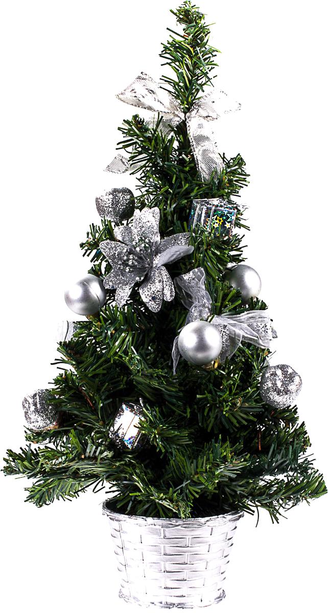 Елка настольная c игрушками Vita Pelle, 40 см. K11EL1917K11EL1917Милая наряженная елочка в корзинке украшена игрушками и мишурой. Она будет уместна и дома, и в офисе. Она преобразит пространство, подарив праздник и новогоднее настроение. Небольшой размер елочки позволит разместить ее где угодно.