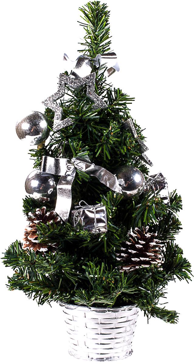 Елка настольная c игрушками Vita Pelle, 40 см. K11EL1918K11EL1918Милая наряженная елочка в корзинке украшена игрушками и мишурой. Она будет уместна и дома, и в офисе. Она преобразит пространство, подарив праздник и новогоднее настроение. Небольшой размер елочки позволит разместить ее где угодно.