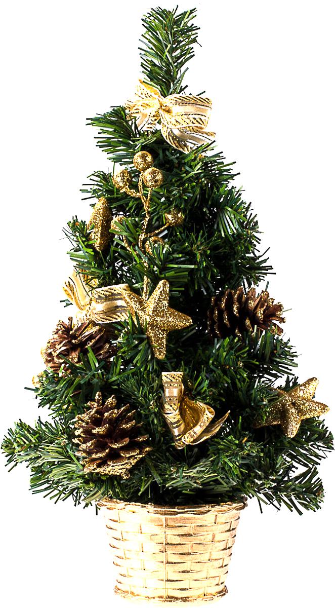Елка настольная c игрушками Vita Pelle, 40 см. K11EL1920K11EL1920Милая наряженная елочка в корзинке украшена игрушками и мишурой. Она будет уместна и дома, и в офисе. Она преобразит пространство, подарив праздник и новогоднее настроение. Небольшой размер елочки позволит разместить ее где угодно.