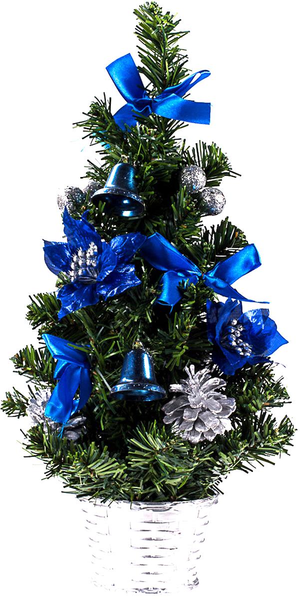 Елка настольная c игрушками Vita Pelle, 40 см. K11EL1923K11EL1923Милая наряженная елочка в корзинке украшена игрушками и мишурой. Она будет уместна и дома, и в офисе. Она преобразит пространство, подарив праздник и новогоднее настроение. Небольшой размер елочки позволит разместить ее где угодно.