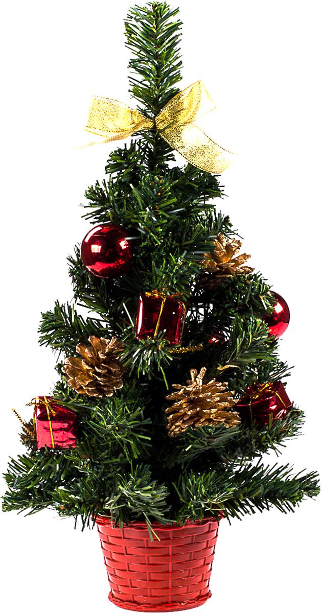 Елка настольная c игрушками Vita Pelle, 40 см. K11EL1924K11EL1924Милая наряженная елочка в корзинке украшена игрушками и мишурой. Она будет уместна и дома, и в офисе. Она преобразит пространство, подарив праздник и новогоднее настроение. Небольшой размер елочки позволит разместить ее где угодно.