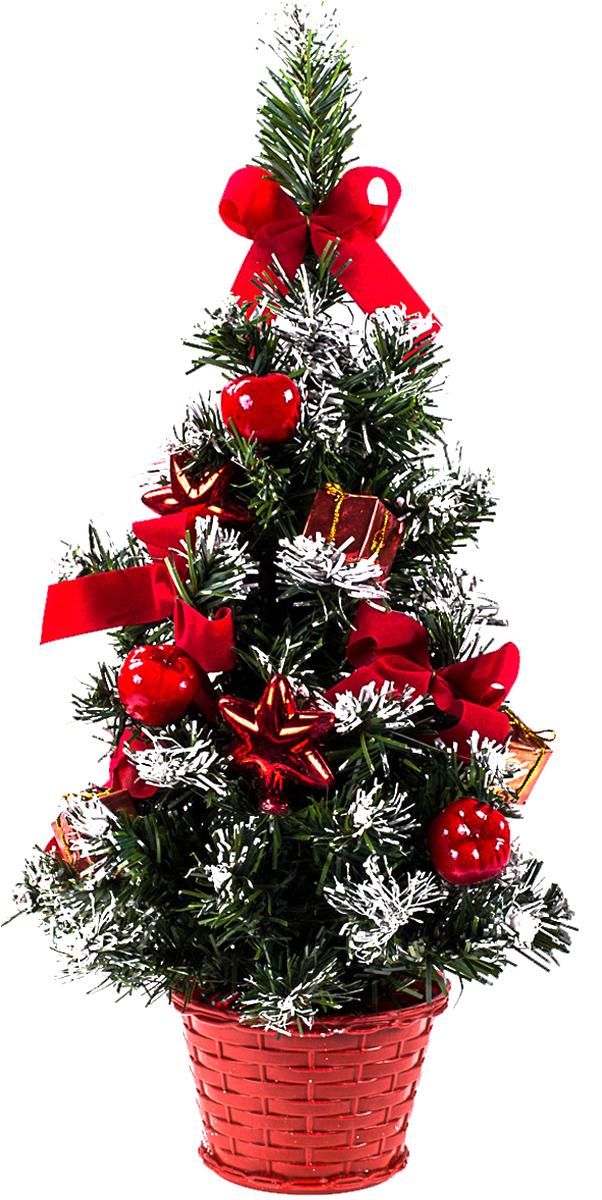 Елка настольная c игрушками Vita Pelle, 40 см. K11EL1926K11EL1926Милая наряженная елочка в корзинке украшена игрушками и мишурой. Она будет уместна и дома, и в офисе. Она преобразит пространство, подарив праздник и новогоднее настроение. Небольшой размер елочки позволит разместить ее где угодно.