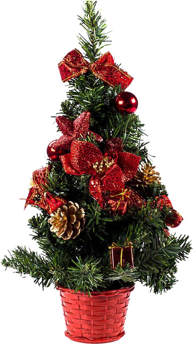 Елка настольная c игрушками Vita Pelle, 40 см. K11EL1927K11EL1927Милая наряженная елочка в корзинке украшена игрушками и мишурой. Она будет уместна и дома, и в офисе. Она преобразит пространство, подарив праздник и новогоднее настроение. Небольшой размер елочки позволит разместить ее где угодно.