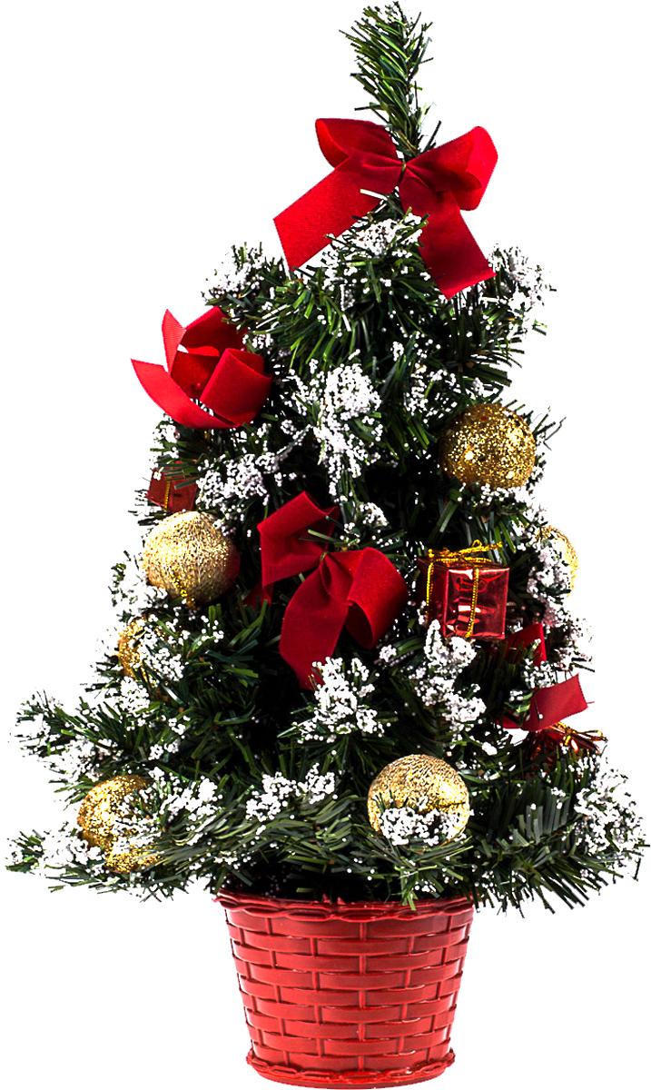 Елка настольная c игрушками Vita Pelle, 40 см. K11EL1929K11EL1929Милая наряженная елочка в корзинке украшена игрушками и мишурой. Она будет уместна и дома, и в офисе. Она преобразит пространство, подарив праздник и новогоднее настроение. Небольшой размер елочки позволит разместить ее где угодно.