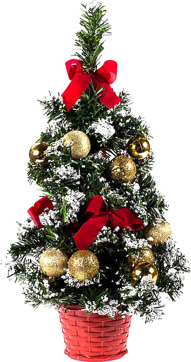 Елка настольная c игрушками Vita Pelle, 40 см. K11EL1930K11EL1925Милая наряженная елочка в корзинке украшена игрушками и мишурой. Она будет уместна и дома, и в офисе. Она преобразит пространство, подарив праздник и новогоднее настроение. Небольшой размер елочки позволит разместить ее где угодно.