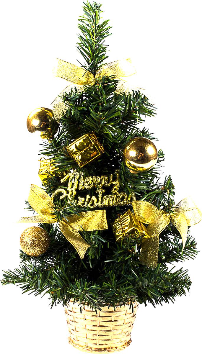Елка настольная c игрушками Vita Pelle, 40 см. K11EL1931K11EL1931Милая наряженная елочка в корзинке украшена игрушками и мишурой. Она будет уместна и дома, и в офисе. Она преобразит пространство, подарив праздник и новогоднее настроение. Небольшой размер елочки позволит разместить ее где угодно.