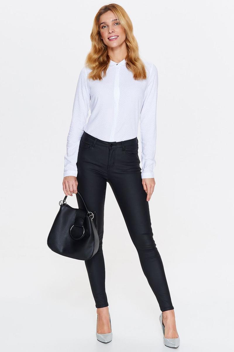 Рубашка женская Top Secret, цвет: белый. SKL2465BI. Размер 40 (48)SKL2465BIСтильная женская рубашка от Top Secret выполнена из 100% вискозы. Модель с длинными рукавами и отложным воротником застегивается на пуговицы, скрытые под планкой.