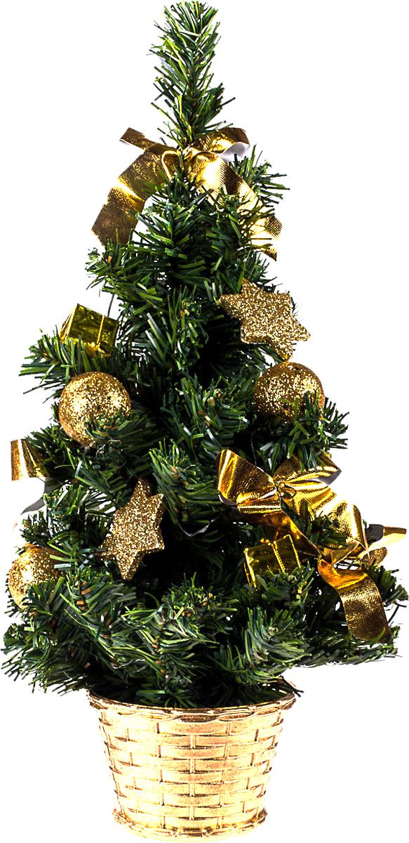 Елка настольная c игрушками Vita Pelle, 40 см. K11EL1935K11EL1935Милая наряженная елочка в корзинке украшена игрушками и мишурой. Она будет уместна и дома, и в офисе. Она преобразит пространство, подарив праздник и новогоднее настроение. Небольшой размер елочки позволит разместить ее где угодно.