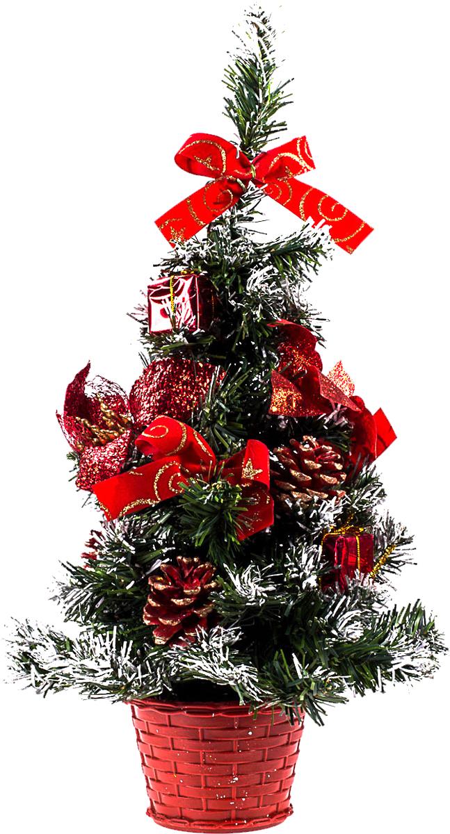 Елка настольная c игрушками Vita Pelle, 40 см. K11EL1936K11EL1936Милая наряженная елочка в корзинке украшена игрушками и мишурой. Она будет уместна и дома, и в офисе. Она преобразит пространство, подарив праздник и новогоднее настроение. Небольшой размер елочки позволит разместить ее где угодно.