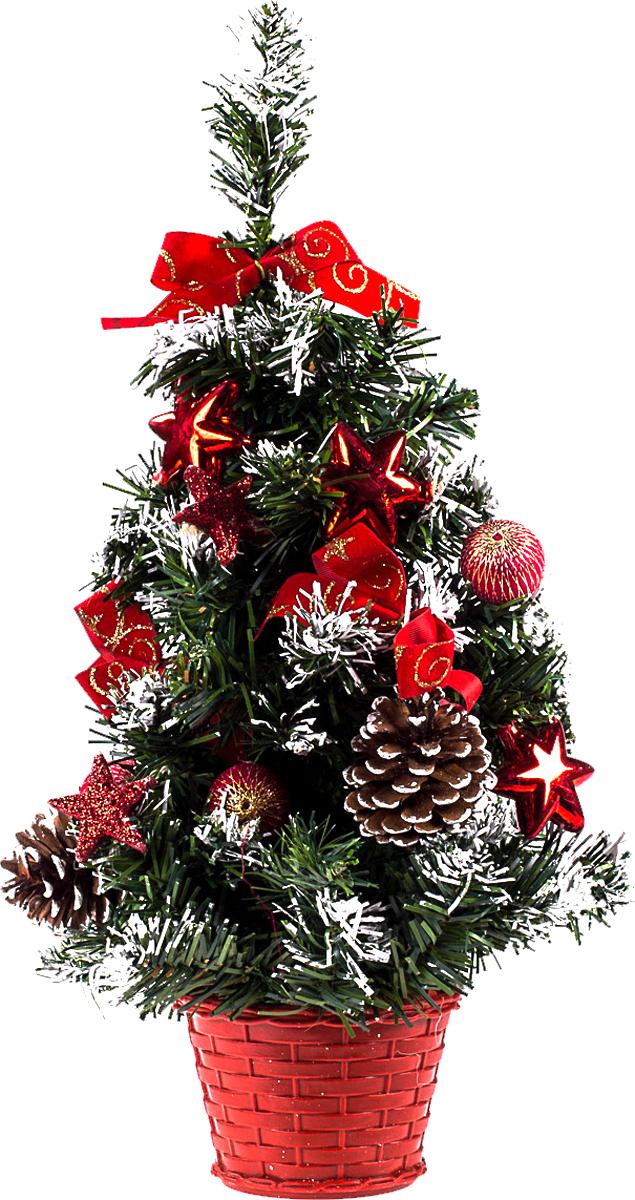 Елка настольная c игрушками Vita Pelle, 40 см. K11EL1940K11EL1940Милая наряженная елочка в корзинке украшена игрушками и мишурой. Она будет уместна и дома, и в офисе. Она преобразит пространство, подарив праздник и новогоднее настроение. Небольшой размер елочки позволит разместить ее где угодно.