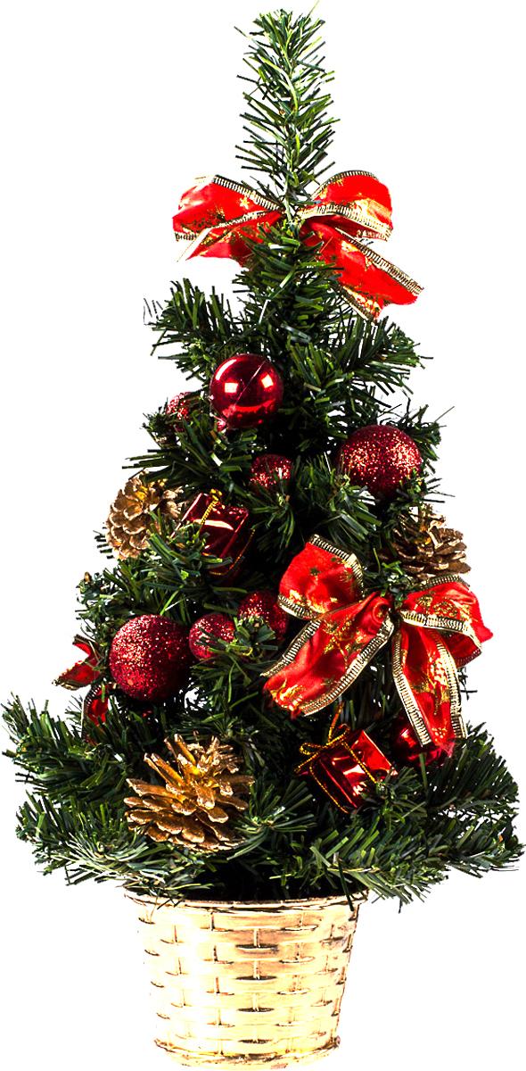Елка настольная c игрушками Vita Pelle, 40 см. K11EL1941K11EL1941Милая наряженная елочка в корзинке украшена игрушками и мишурой. Она будет уместна и дома, и в офисе. Она преобразит пространство, подарив праздник и новогоднее настроение. Небольшой размер елочки позволит разместить ее где угодно.