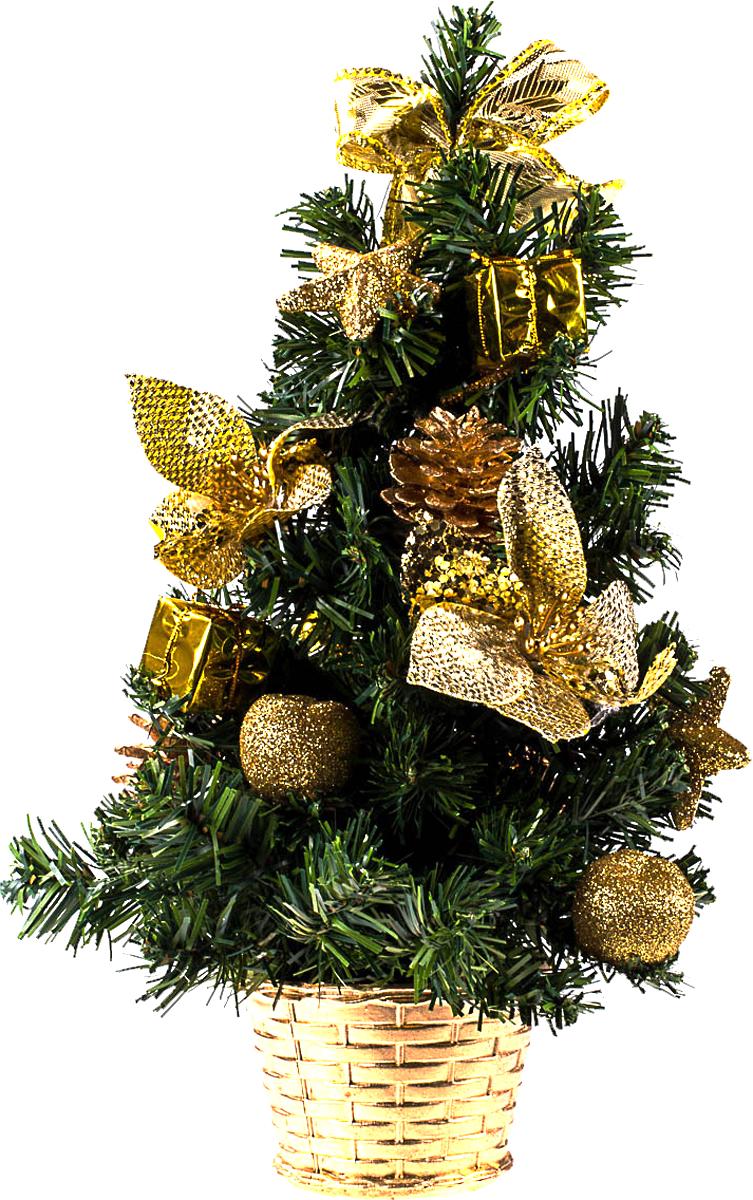 Елка настольная c игрушками Vita Pelle, 40 см. K11EL1944K11EL1944Милая наряженная елочка в корзинке украшена игрушками и мишурой. Она будет уместна и дома, и в офисе. Она преобразит пространство, подарив праздник и новогоднее настроение. Небольшой размер елочки позволит разместить ее где угодно.