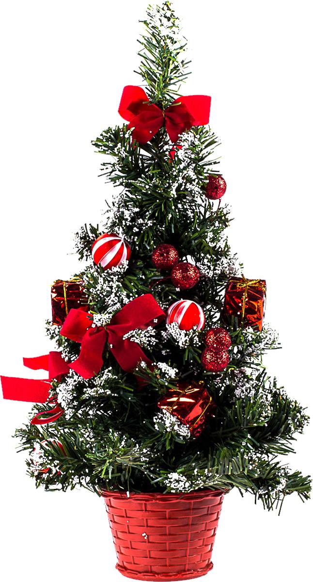 Елка настольная c игрушками Vita Pelle, 40 см. K11EL1946K11EL1946Милая наряженная елочка в корзинке украшена игрушками и мишурой. Она будет уместна и дома, и в офисе. Она преобразит пространство, подарив праздник и новогоднее настроение. Небольшой размер елочки позволит разместить ее где угодно.
